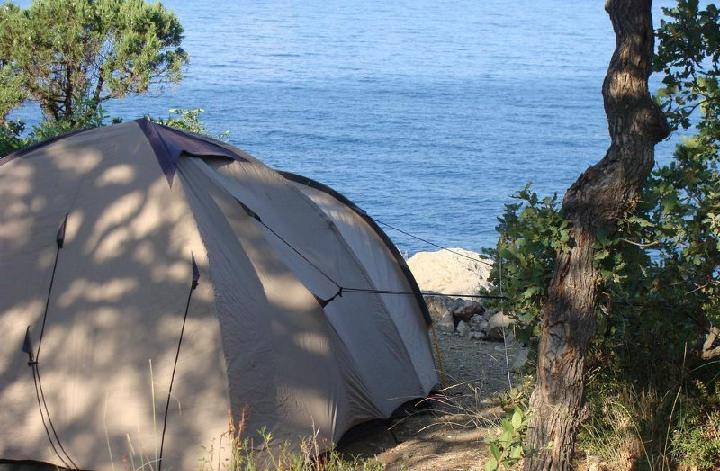 Отдых с палаткой в Крыму летом 2018
