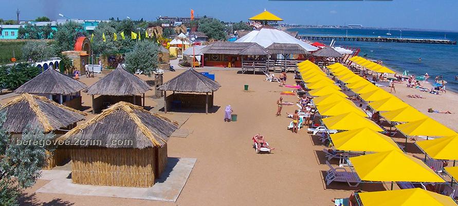 Песчаный пляж в г. Феодосия