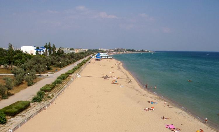 Пляжи в Заозерном, Евпатория