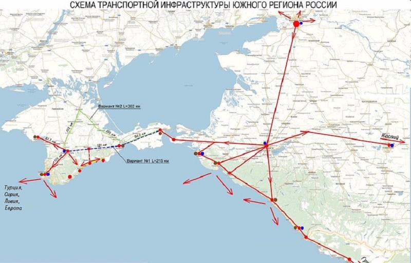 карта крыма с железной дорогой 2018