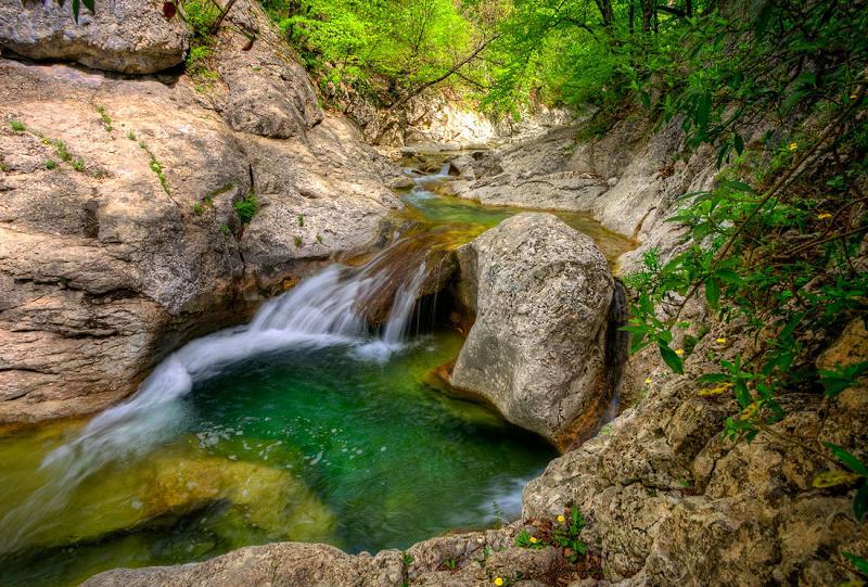 Крымский Большой каньон - Ванна молодости