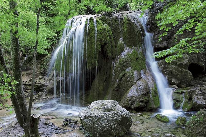 Крымский Большой каньон - водопад