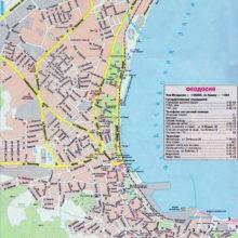 Карта Феодосии с улицами и номерами