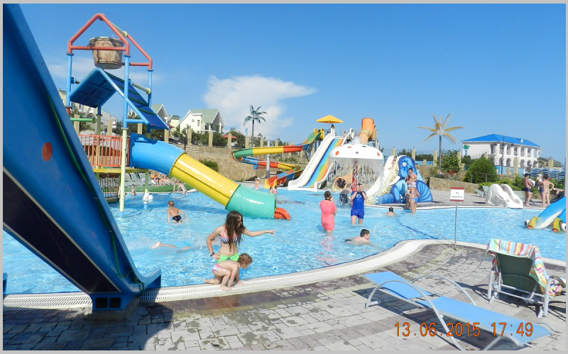 Развлечения для детей в аквапарке Коктебеля