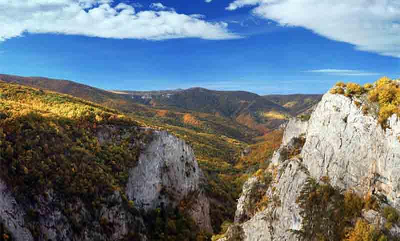 Большой крымский каньон на карте Крыма