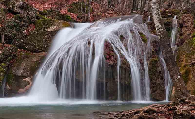 Водопад Джур-Джур на карте Крыма
