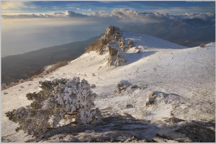 Крымские горы в декабре