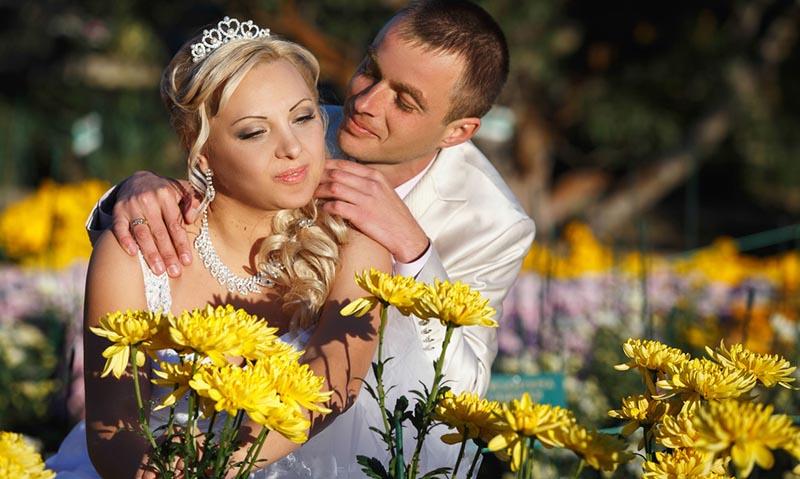 Свадьба в Никитском ботаническом саду