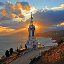 Храм-маяк Николая Чудотворца в Малореченском (Крым)