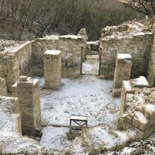 Руины Византийского монастыря на горе Перчем в Судаке: тайны прошлого