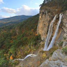 Самые красивые водопады Крыма на карте (список) и их названия
