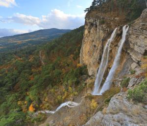 Красивые водопады в Крыму
