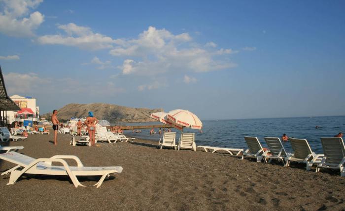 песочные пляжи в Судаке