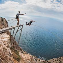 Роупджампинг в Крыму: сколько стоит прыгнуть с веревкой в 2019 году?