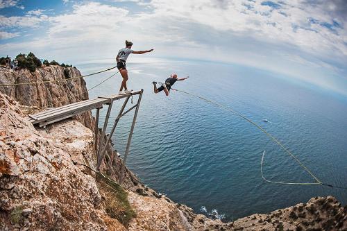 Роупджампинг в Крыму фото