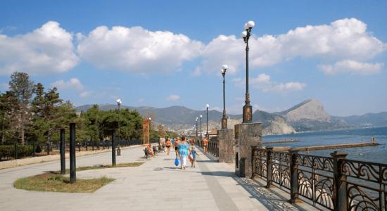 Набережная в Судаке (Крым): фото, видео, описание