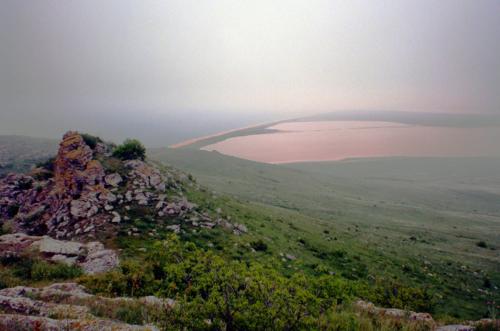 Розовое озеро в Крыму фото 5